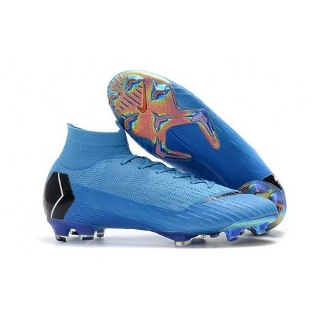 Chaussures football Nike Mercurial Superfly VI 360 Elite FG pour Hommes Bleu Noir