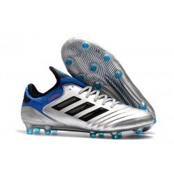 Chaussures de Football Pas Cher - Adidas Copa 18.1 FG Argent Métallique Noir Bleu