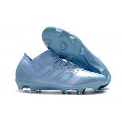 Nouvelles Crampons Foot Adidas Nemeziz Messi 18.1 FG Bleu