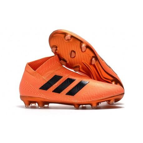 Chaussures de Football Adidas Nemeziz 18+ FG Hommes Noir Orange