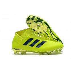 Chaussures de Football Adidas Nemeziz 18+ FG Hommes Vert Noir