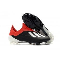 Adidas X 17+ Purespeed FG - Chaussures de Foot pour Hommes Noir Blanc Rouge