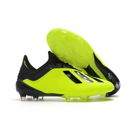 Chaussures de football 2018 - Adidas X 18.1 FG - Jaune Noir
