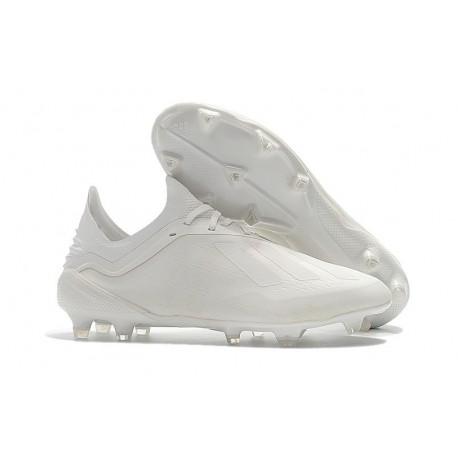 Chaussures de football 2018 - Adidas X 18.1 FG - Blanc Cassé