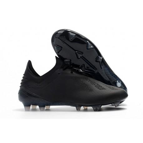 Chaussures de football 2018 - Adidas X 18.1 FG - Tout Noir