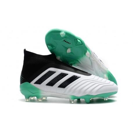 Chaussures de Football 2018 - adidas Predator 18+ FG Blanc Vert