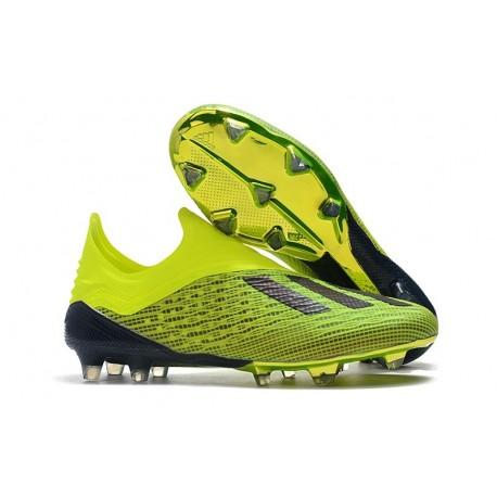 Nouveau Chaussures de Football adidas X 18+ FG Jaune Noir