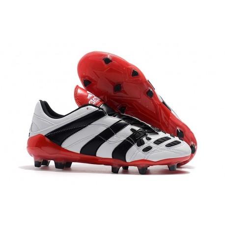 Chaussures de Football Adidas Predator Accelerator Electricity FG Blanc Noir Rouge