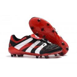 Chaussures de Football Adidas Predator Accelerator Electricity FG Noir Blanc Rouge