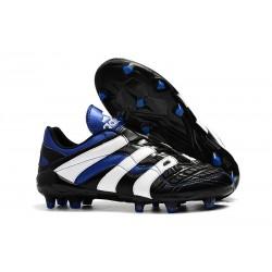 Chaussures de Football Adidas Predator Accelerator Electricity FG Noir Blanc Bleu