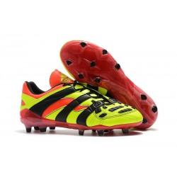 Chaussures de Football Adidas Predator Accelerator Electricity FG Jaune Rouge Noir