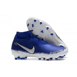 Nouvelles Chaussures de Football Nike Phantom VSN Elite DF FG Noir Argent Bleu Racer