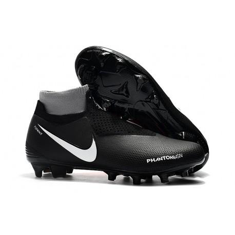 Nouvelles Chaussures de Football Nike Phantom VSN Elite DF FG Noir Rouge Blanc