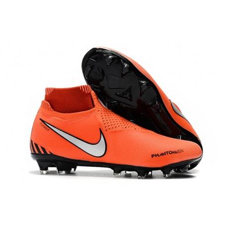 Nouvelles Chaussures de Football Nike Phantom VSN Elite DF FG Rouge Noir Blanc