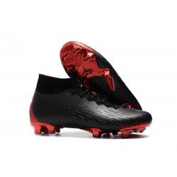 Crampons De Football Nike Mercurial Superfly VI 360 Elite FG Hommes - Nike x Jordan Noir Rouge
