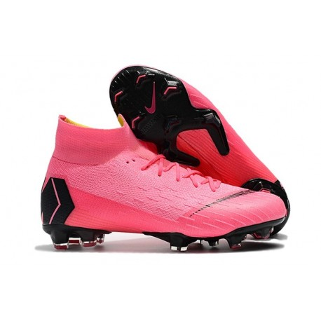 Crampons De Football Nike Mercurial Superfly VI 360 Elite FG Hommes - Rose Noir