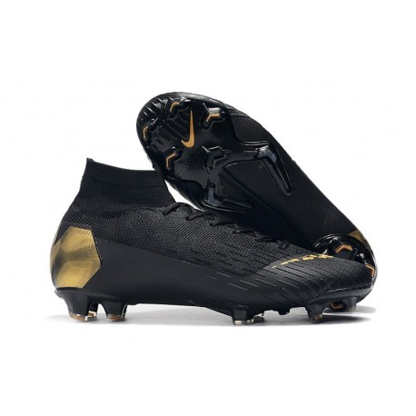Crampons De Football Nike Mercurial Superfly VI 360 Elite FG Hommes - Or Noir