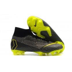 Crampons De Football Nike Mercurial Superfly VI 360 Elite FG Hommes - Gris Jaune