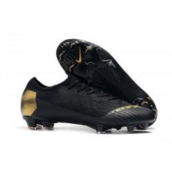 Nouveau Crampons de Football Nike Mercurial Vapor XII Elite FG Or Noir