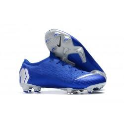 Crampons de Foot Nike Mercurial Vapor XII Elite FG pour Hommes Noir Argent Bleu Racer
