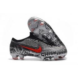 Crampons de Foot Nike Mercurial Vapor XII Elite FG pour Hommes Neymar Noir Blanc Rouge