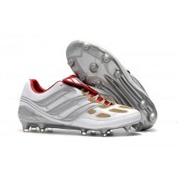 Nouveau Chaussures De Football Adidas Predator Precision FG Gris Or Rouge