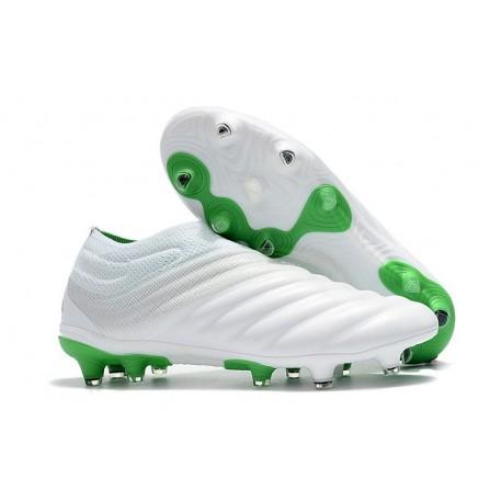 Neuf Crampons De Football Adidas Copa 19+ FG Blanc Vert
