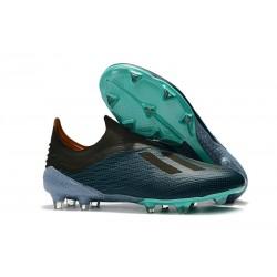 Nouvelles Crampons Foot Pour Hommes - Adidas X 18+ FG Bleu Noir