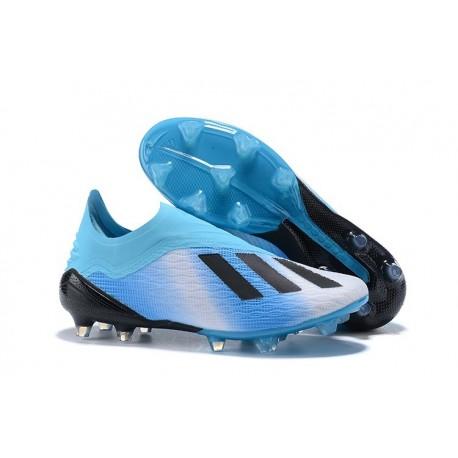 Nouveau Chaussures de Football adidas X 18+ FG Bleu Noir