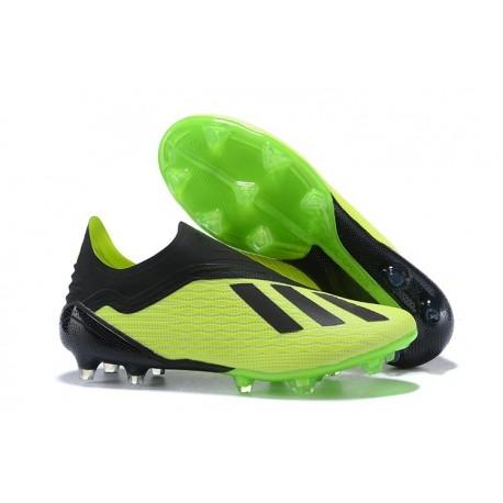 Nouveau Chaussures de Football adidas X 18+ FG Vert Noir