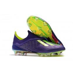 Nouvelles Crampons Foot Pour Hommes - Adidas X 18+ FG Violet Vert