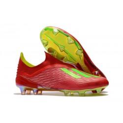 Nouveau Chaussures de Football adidas X 18+ FG Rouge Vert