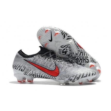 2019 Neymar Nouveau Chaussures Nike Mercurial Vapor XII 360 ACC Elite FG Blanc Rouge Noir