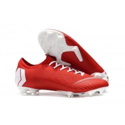 Crampons de Foot 2019 Nike Mercurial Vapor XII Elite FG Rouge Blanc