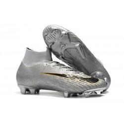 Crampons De Football Nike Mercurial Superfly VI 360 Elite FG Argent Noir